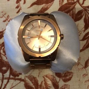 Diesel rose gold big face watch